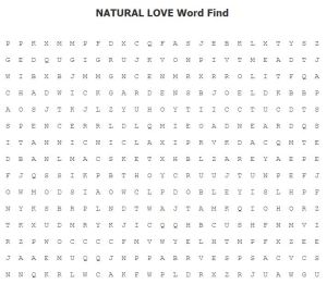 Natural Love Word Find 2