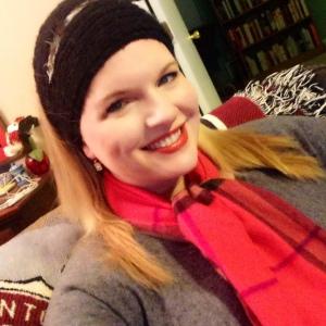My scarf, worn in honor of MK.